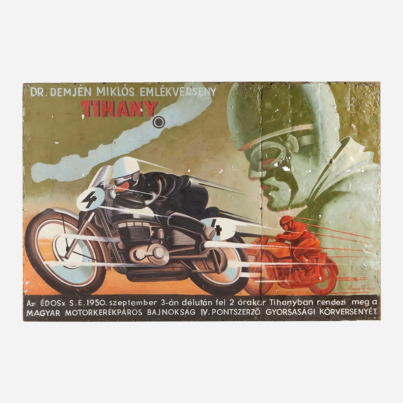 Art on Reclaimed Metal, Tihany Motorbike Race