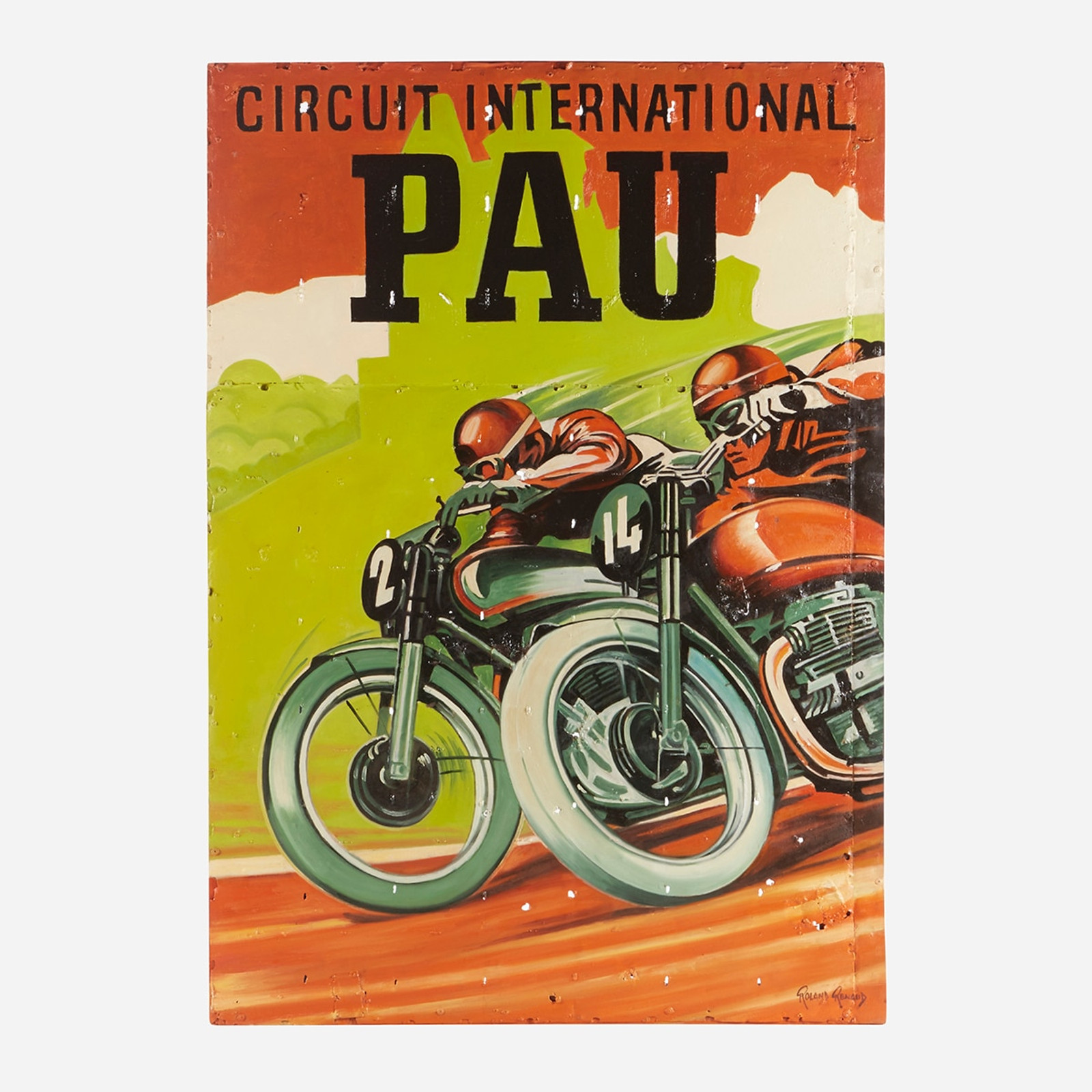 Art on Reclaimed Metal, Circuit International Pau Motorbike