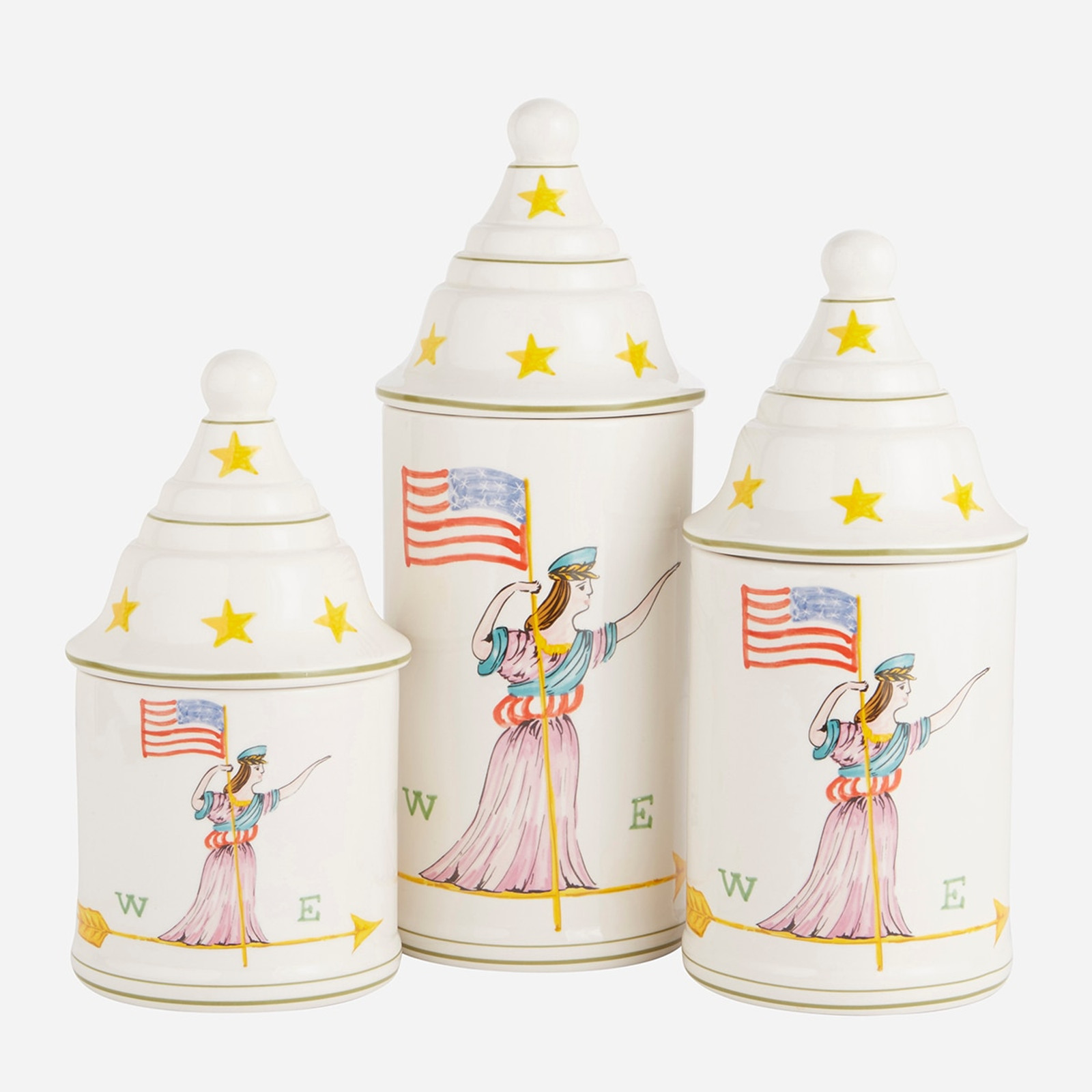 Americana Canisters, Set of 3