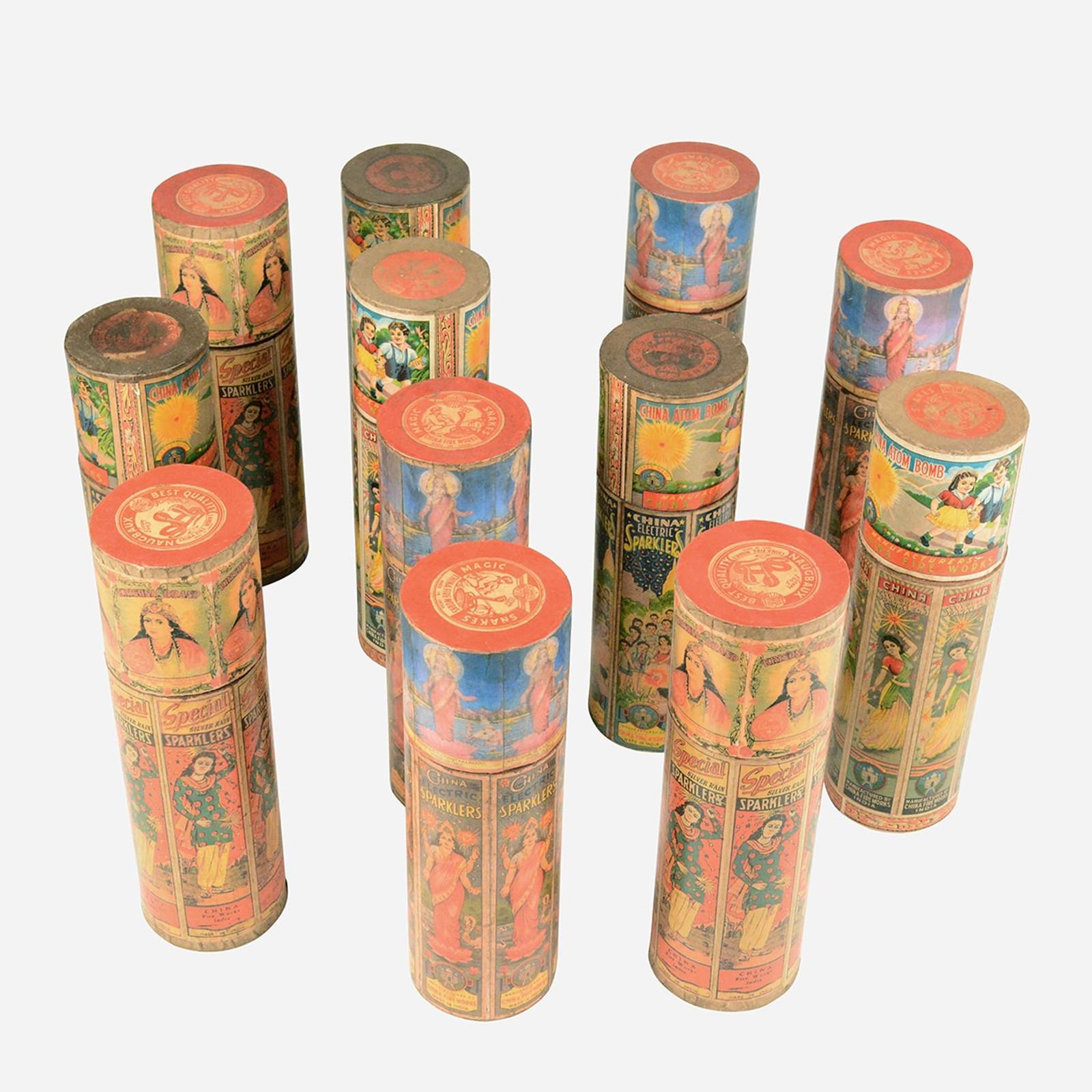 Paper-Mache Sparkler Box, Tall