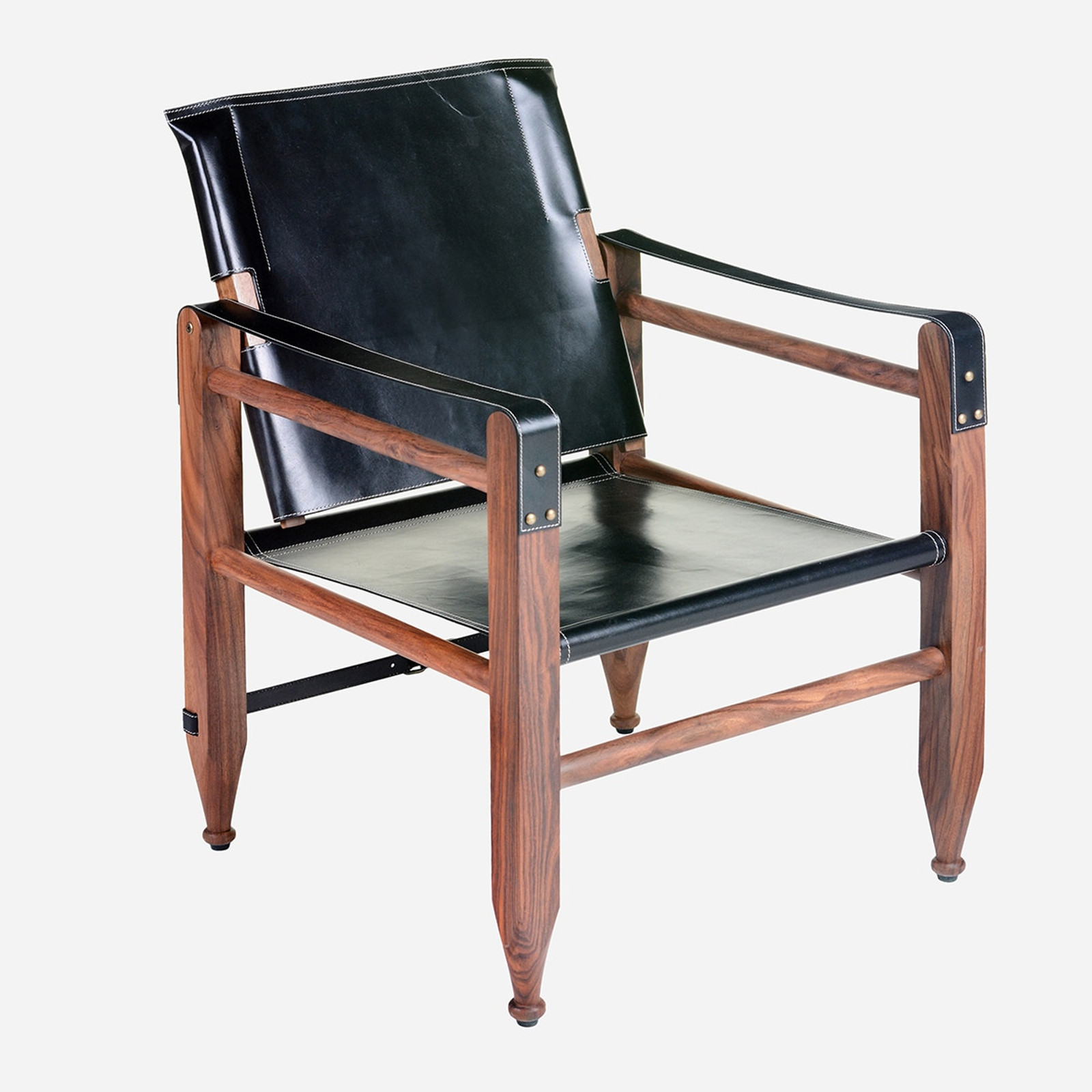 Leather Campaign Chair