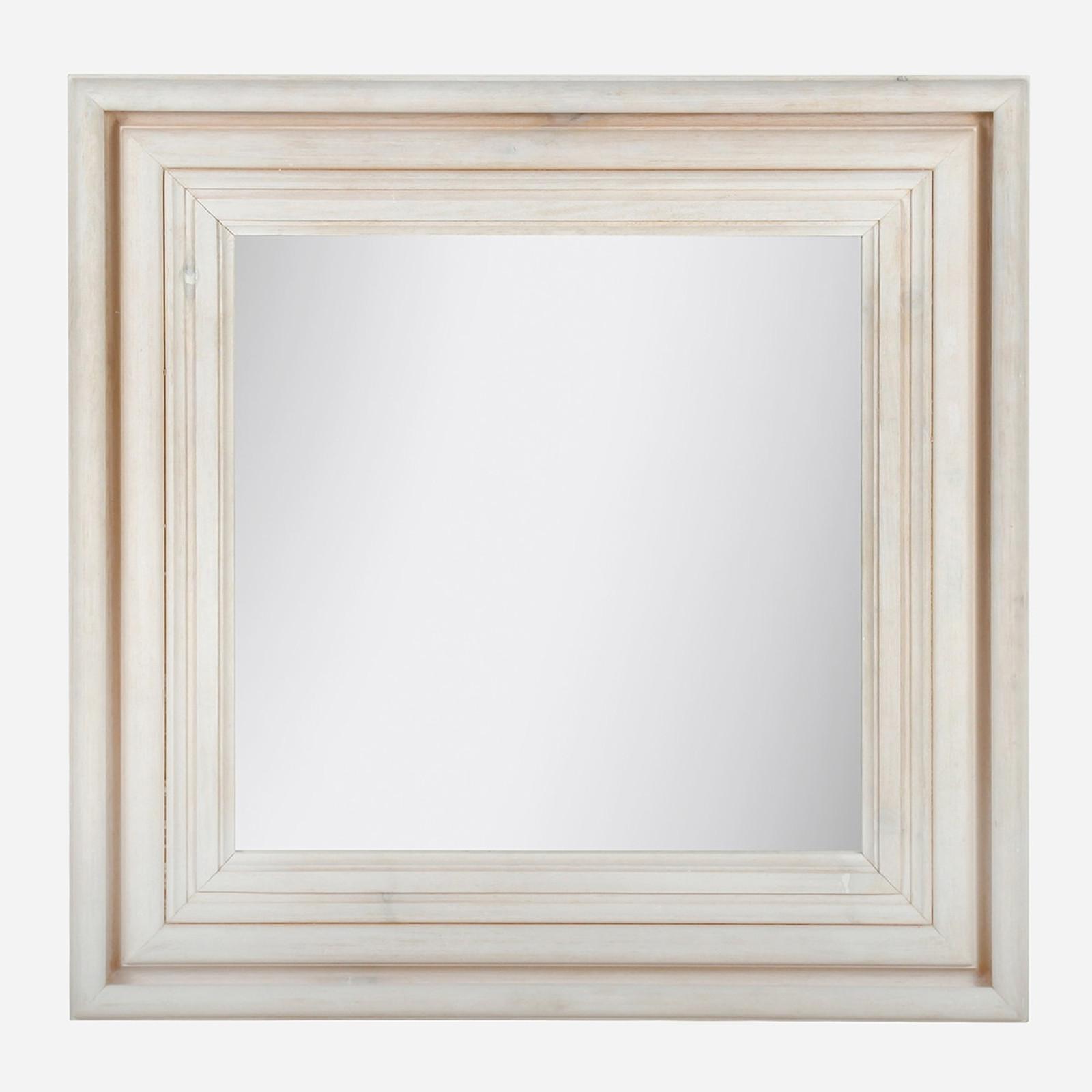 Pine Mirror Square, White Wash