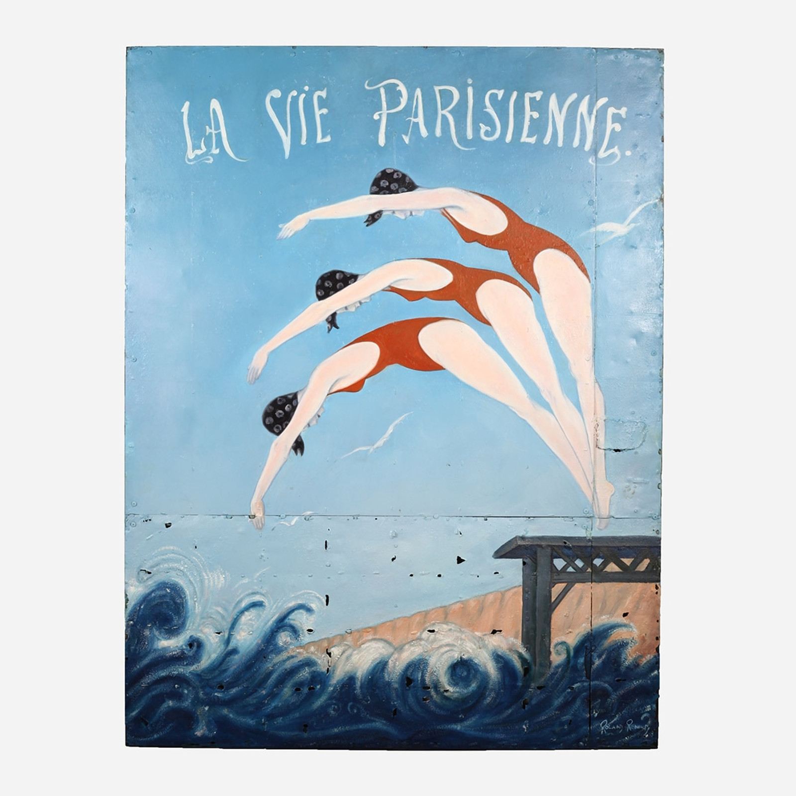 Art on Reclaimed Metal, La Vie Parisienne