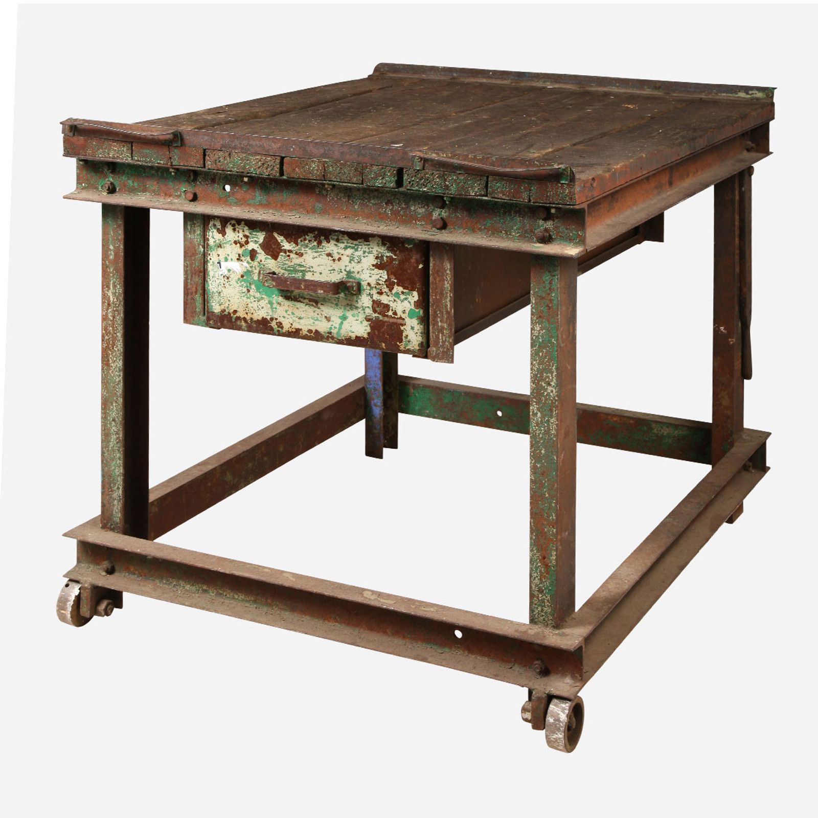 Green Industrial Table