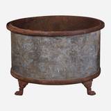 French Iron Clawfoot Planter