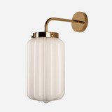 Glass Wall Lamp White Deco