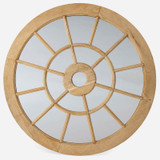 Wooden Cathedral Mirror Round, 72in