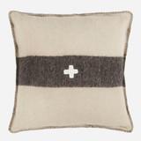 Swiss Army Pillow Cover 24x24 Cream/Black