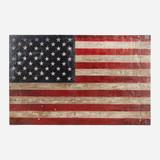 Art on Reclaimed Metal, American Flag