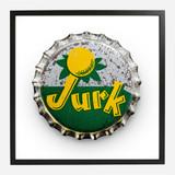 Framed Bottle Cap Print, Jurk 20x20