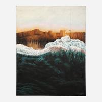 Art on Reclaimed Metal, Big Wave
