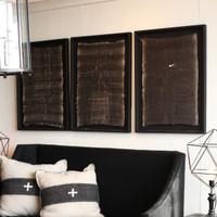 Framed Bread Linen, Black