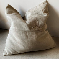 Patch Cushion, Natural