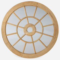 Wooden Cathedral Mirror, Round 42in