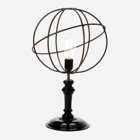 Geometric Wire Table Lamp, Sphere