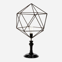 Geometric Wire Table Lamp, Triangle