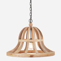 Wooden Bell Chandelier, 24in