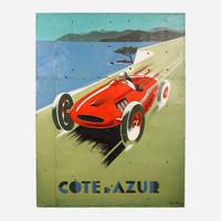 Art on Reclaimed Metal, Cote D Azur