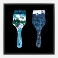 Framed Paint Brush Print #2, 20x20