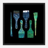 Framed Paint Brush Print #6, 20x20