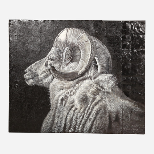 Art on Reclaimed Metal, Ram