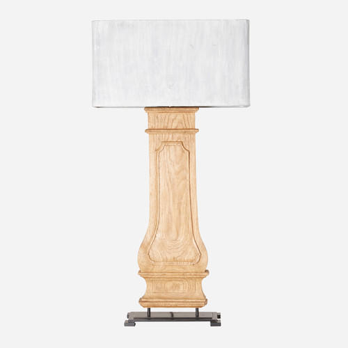 Column Table Lamp w/ Zinc Shade  (WHS Open Box Stock)