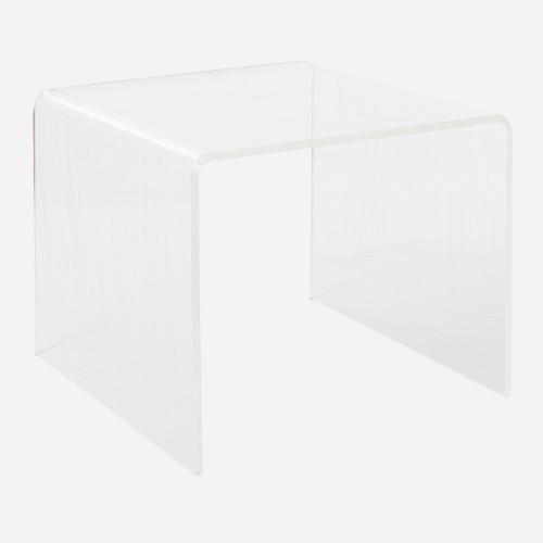 Faux Bois Waterfall Side Table  (WHS Open Box Stock)