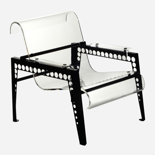 Mr. Bubbles Armchair, Clear Acrylic (WHS Open Box Stock)