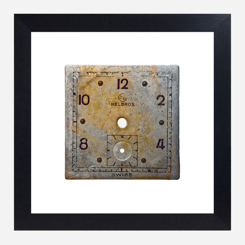 Framed Watch Face Print, Helbros 10x10 (WHS Open Box Stock)