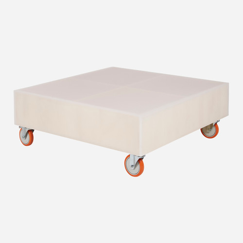 Ghosted Coffee Table w/ Casters (WHS Open Box Stock)