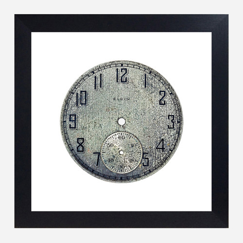 Framed Watch Face Print, Elgin 10x10 (WHS Open Box Stock)