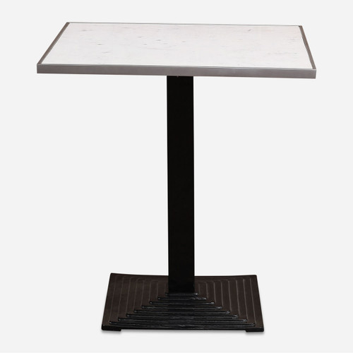 Deco Bistro Table, White Marble