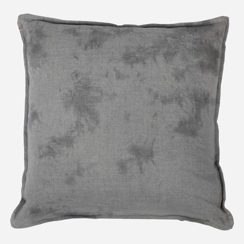 Outlander Linen Cushion, Teal Mottled