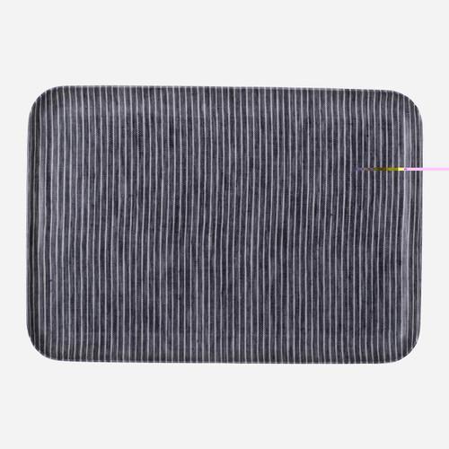 Linen Coating Tray, Medium Grey White Stripe