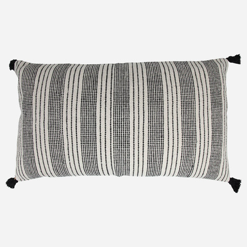 Pillow Piper, Ivory Charcoal