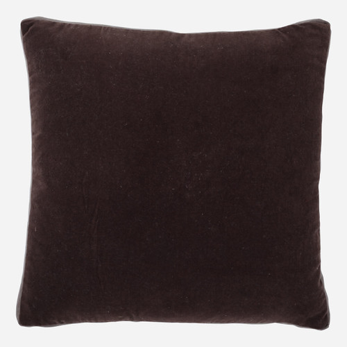 Cafe Velvet with Cafe Linen Gussett 22 x 22 Pillow