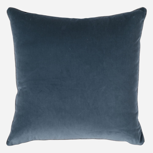 Deft Blue Velvet 22 x22 w/ Cord Pillow