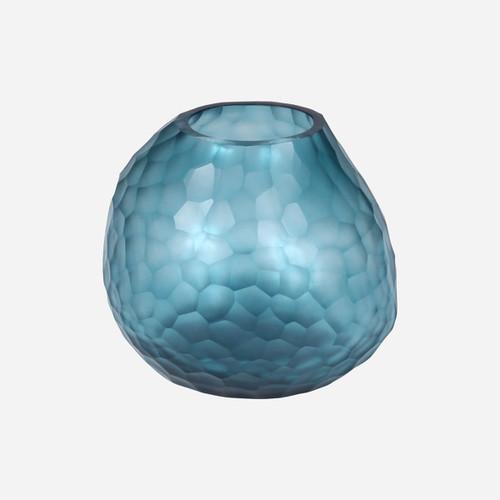 Somme Round Vase, Petrol