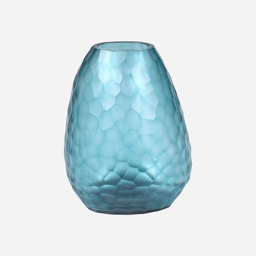 Somme Tall Vase, Petrol