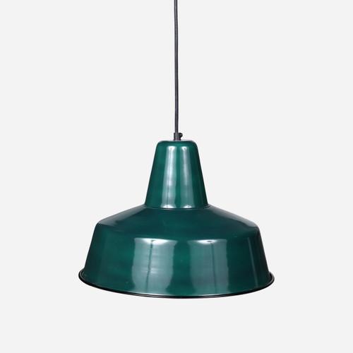 Retro Rondeau Pendant, Green