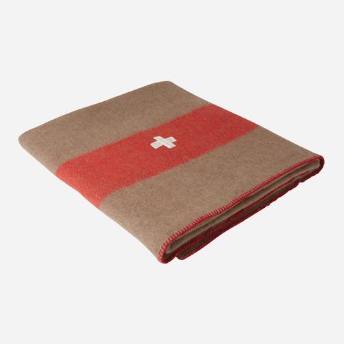 Swiss Army Wool Blanket (Brown)