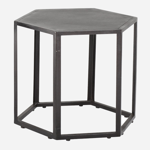 Hexagonal Rubber Side Table, Sm