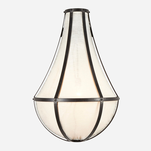 Empire Linen Sconce, Large