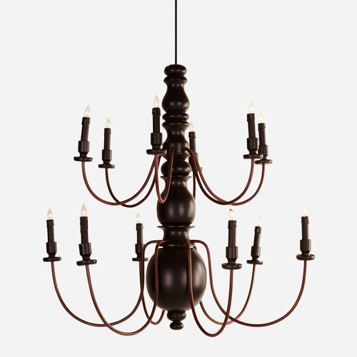 2 Tier Pillar Chandelier