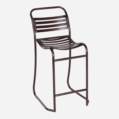 Metal Slatted Counter Stool