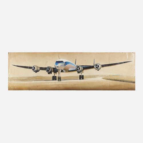 Art on Reclaimed Metal, Lockheed Constellation