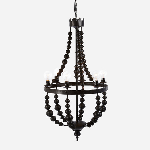 Metal Beaded Chandelier, Small