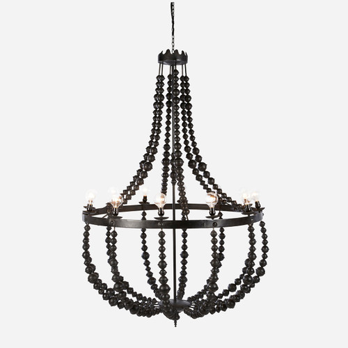 Metal Beaded Chandelier, Large