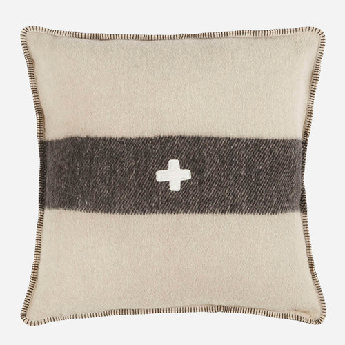 Swiss Army Pillow Cover 24x24 Cream/Black