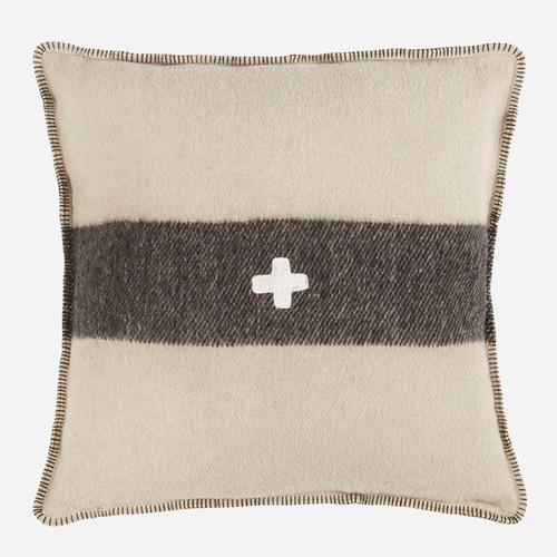 Swiss Army Pillow Cover 28x28 Cream/Black